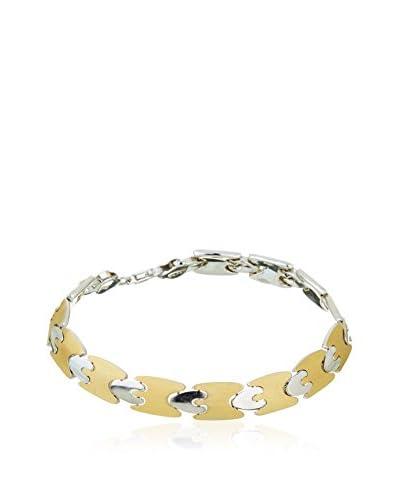 GOLD & DIAMONDS Pulsera René plata de ley 925 milésimas bañada en oro / Metal Dorado
