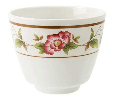 Get Enterprises Inc Tea Rose Dynasty Series Melamine White Tea Cup, 5.5 Ounce -- 24 Per Case.