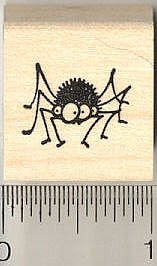 Goofy Eyed Spider Rubber Stamp