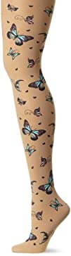 Jessica Simpson Womens Printed Butterflies Sheer Tight