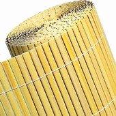 Clotures en canisse PVC double face, couleur bambou 100x500cm