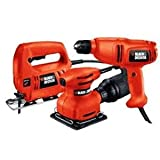 Factory-Reconditioned Black & Decker BD3KTR 3 Tool Combo Kit with 25 Accessories