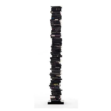 Opinion Ciatti Ptolomeo - Bibliothèque 215 pose libre, noir socle laqué noir 35 x 35 x 215 cm