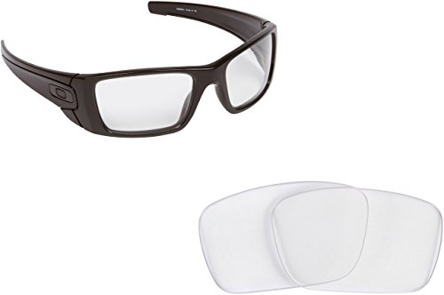 New SEEK OPTICS Replacement Lenses for Oakley FUEL CELL - Crystal Clear
