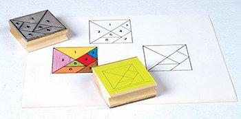 Tangram Stamps Set Of 2 -- Case of 4