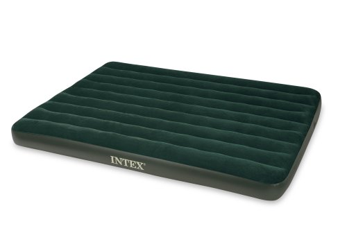 Intex Queen Prestige Downy Airbed with Hand Held Battery Pump