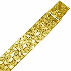 14Kt Yellow Gold Smart Nugget Men's Bracelet