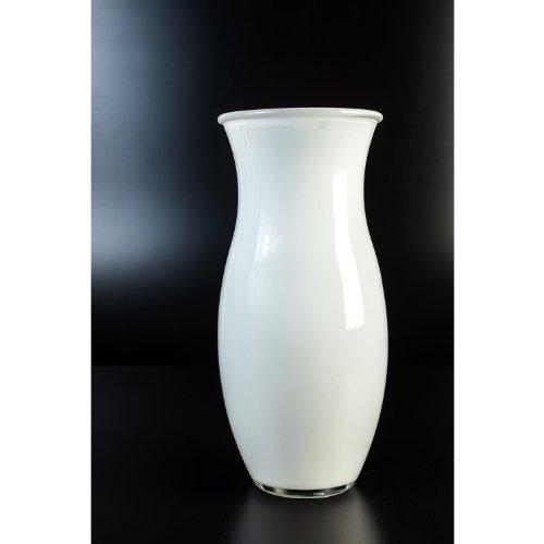 vase fleurs courb polly en verre blanc 24 cm 10 5 cm vase design vase en verre. Black Bedroom Furniture Sets. Home Design Ideas