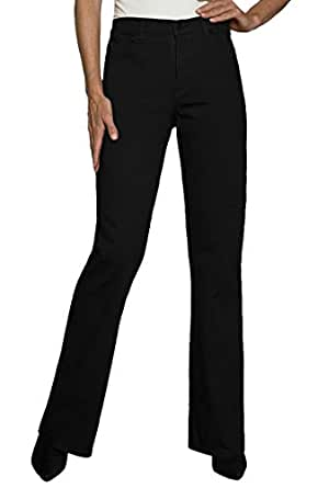 NYDJ Women's Five-Pocket Bootcut Jean,0,Black