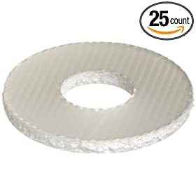 "Fiberglass Flat Washer, ANSI, #8, 0.188"" ID, 0.5"" OD, 0.04"" Thick (Pack of 25)"