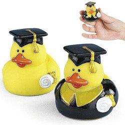One Dozen  Graduation Graduate Rubber Ducky Duck Party Favor