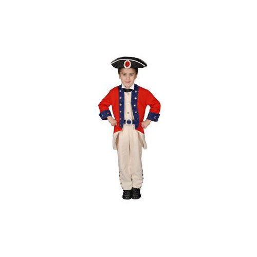 Pretend Deluxe Colonial Soldier Child Costume Dress-Up Set Size 12-14