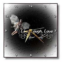 WhiteOak Art Designs-Fairies Say - Live Laugh Love - Wall Clocks