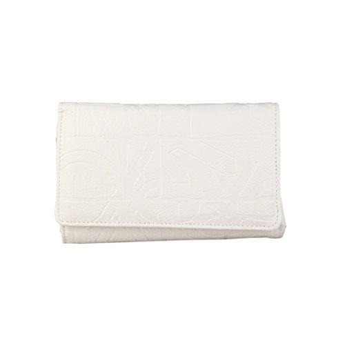 Benetton - Raygun portafoglio con bottone automatico - Donna (Taglia unica) (Bianco)