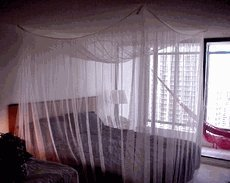 Nicamaka Manila No See Um Bed Canopy - Dark Green