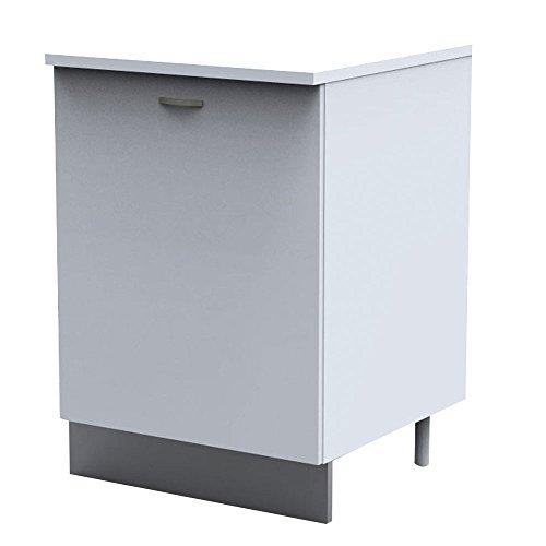 Mobile cucina bianco base 1 anta ripiano piedi regolabili ...