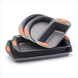 Rachael Ray Yum-O 5-Piece Nonstick Bakeware Set Cookware Sets - Orange