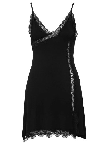 Womens Soft Lace Trim Slip Black 16