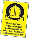 EZTEK 17539P SIGN- CARS CLAMPED RELEASE £50- RP