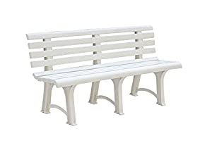 banc de jardin atena plastique trois pieds blanc 150 cm jardin. Black Bedroom Furniture Sets. Home Design Ideas