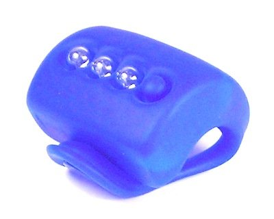 Knog Gekko 3-LED Blue Silicon Bike Headlight