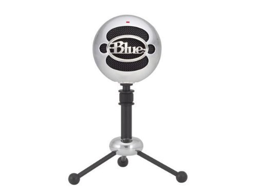 Blue Microphones Snowball (Brushed Aluminum) Condenser Usb Microphone With Cardi