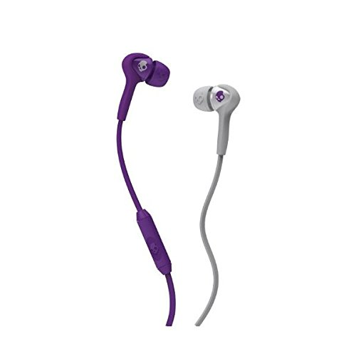 Skullcandy S2Sbdy-210 Smokin Buds Athletic In-Ear Headphone With Mic (Purple/Grey)