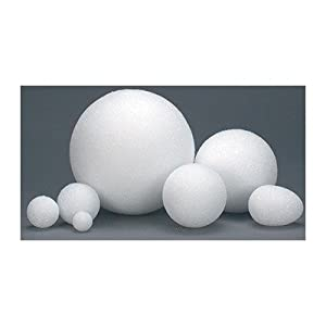 Hygloss 5102 100-Piece Styrofoam Balls, 2-Inch, White