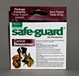 Durvet Intervet Safeguard Dog Wormer Maroon 4 Gram - 001-004109