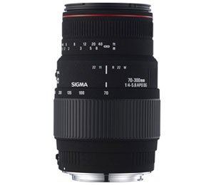 "Sigma 70-300mm f/4-5.6 APO-M ""Motorized"" DG Macro Telephoto Zoom Lens with Built-in Motor Drive for Nikon SLR Cameras Including D40, D40X, & D60"