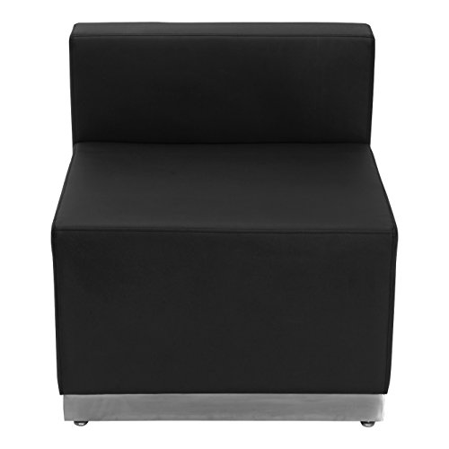 HERCULES Alon Series Black Leather Chair with Brushed Stainless Steel Base (Modular Office compare prices)