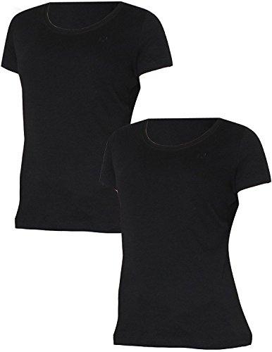 pack-of-2-liz-claiborne-damen-rundhalsausschnitt-kurzarm-t-shirt-xl-schwarz