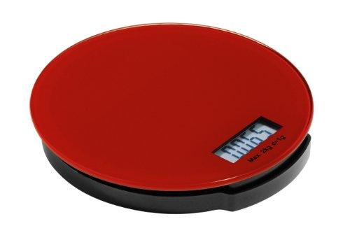 Premier Housewares 0807253 Zing Balance de Cuisine Électronique en Verre Base ABS Rouge 2 kg