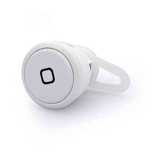 Nasis Smallest Wireless Stereo Music Bluetooth 3.0 Headset Hands-Free Earphone Headphone Ah6003 Ye-106S (White)