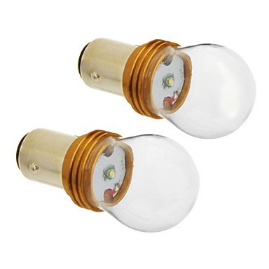 Zcl1157/Ba15D 6W Cree 380Lm 5500-6500K Cool White Light Led Bulb For Car (12V-24V,2Pcs)