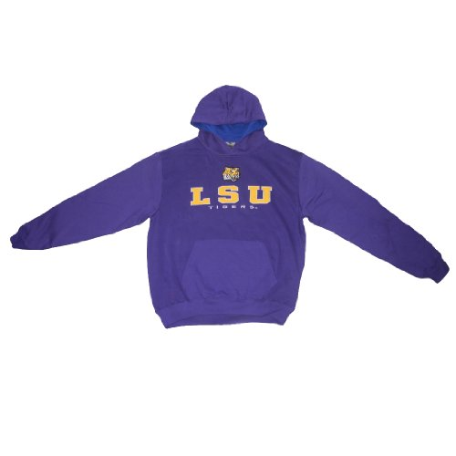 NCAA LSU TIGERS Youth Warm Athletic Pullover Hoodie with Embroidered Logo L(16/18) Purple at Amazon.com