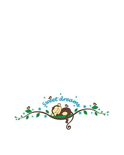 Ambiance Live Vinilo Decorativo Monkeys Sweet dreams Multicolor