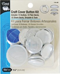 Dritz Craft Cover Button Kit, Size 45
