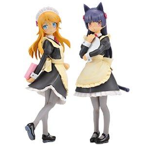 俺の妹がこんなに可愛いわけがない EXメイドフィギュア 高坂桐乃 ・ 黒猫 ( 五更瑠璃 ) 全2種セット