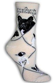 French Bulldog Cotton Puppy Dog Breed Animal Socks 9-11