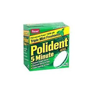 Polident 5-Minute Denture Cleanser Tablets - 40 Ea