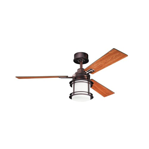 Kichler Lighting 300157Obb Pacific Edge 52-Inch High Efficiency Dc Ceiling Fan, Oil Brushed Bronze Finish With Reversible Blades And Integrated Light Kit front-974576