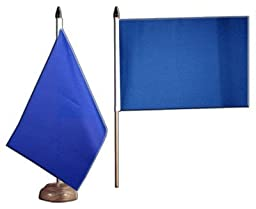 Plain Blue Table Flag