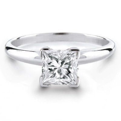 en cut square ring gold diamond engagement w halo rings white princess