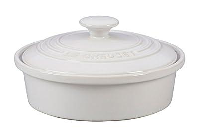 Le Creuset of America Stoneware Camembert Baker, 20-Ounce, White
