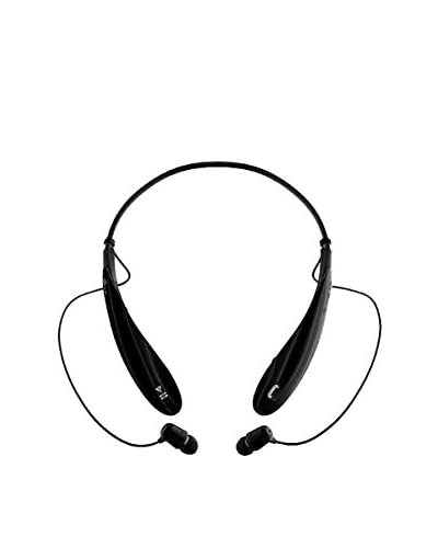 CAY Trading iPM Bluetooth Noise-Canceling Neckband Headset with Built-In Microphone, Black