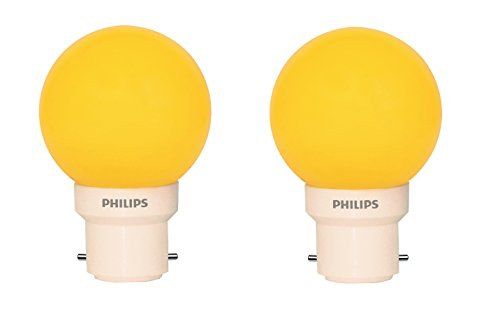 0.5 W Decomini B22 LED Bulb (Yellow, Pack of 2)