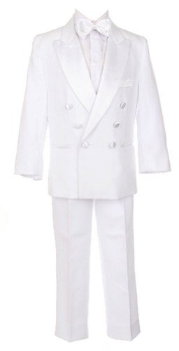 Sweet Kids Baby-Boys Double Breasted Tux W/O Tails 18M Lg White (Sk M102A)