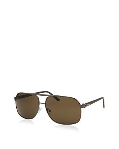 Timberland Men's Square Sunglasses, Gunmetal/Brown