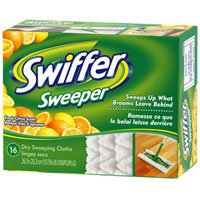 PROCTER & GAMBLE CONSUMER. Swiffer Sweeper Dry Disposable Sweeping Cloths, Fresh Citrus Scent - 16 Ea at Sears.com